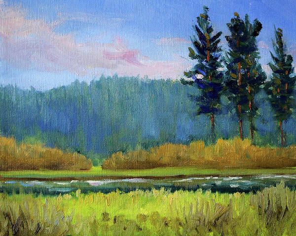 Wall Art - Painting - Deschutes River Edge by Nancy Merkle