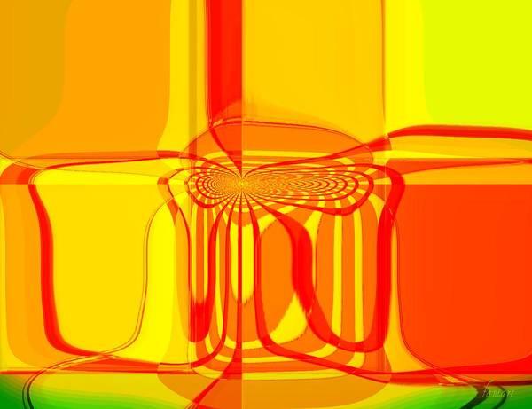 Harp Mixed Media - Descriptive Flow by Fania Simon