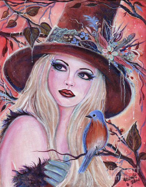 Eastern Bluebird Painting - Desdemona Witch by Renee Lavoie