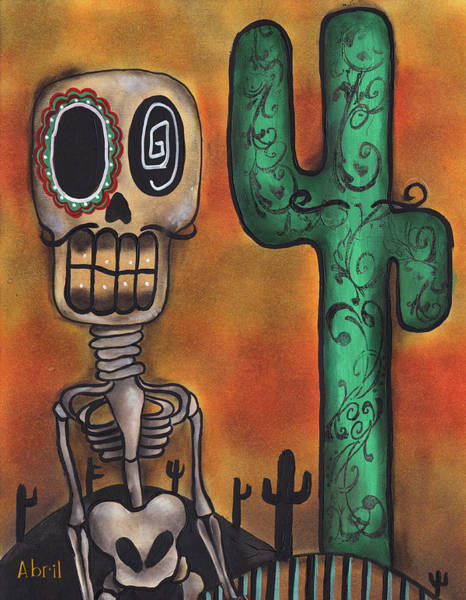 Lowbrow Wall Art - Painting - Desert by Abril Andrade Griffith