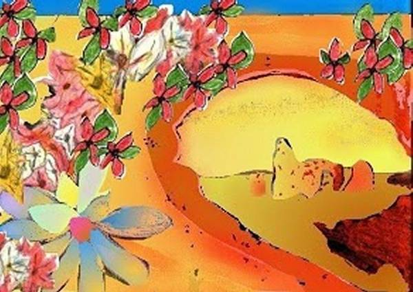 Desert Bridge Art Print