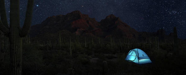 Scrub Photograph - Desert Camping by Steve Gadomski