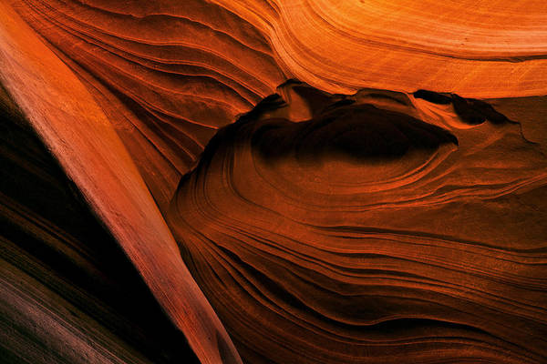 Contour Photograph - Desert Carvings by Mike  Dawson