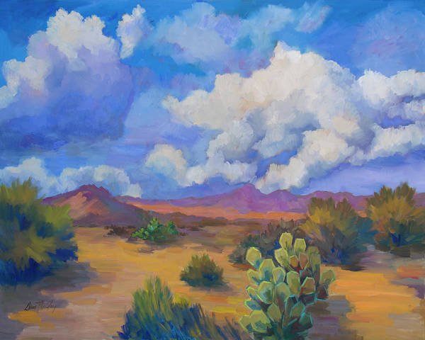 Painting - Desert Clouds Passing by Diane McClary