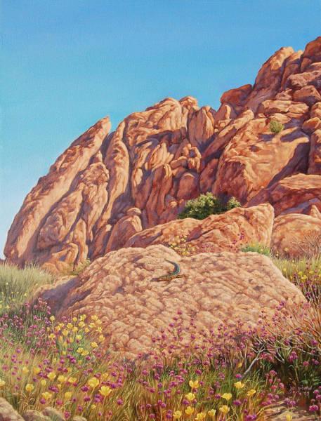 Lizard Painting - Desert Colors by Johanna Girard