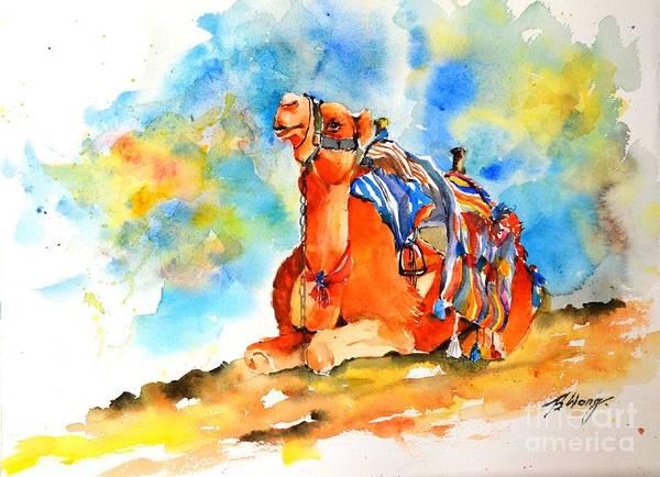 Painting - Desert Comfort by Betty M M   Wong