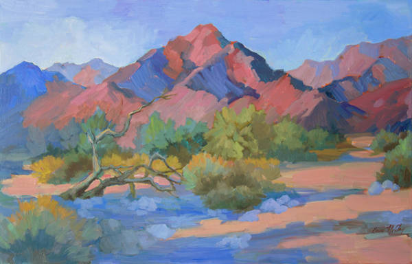 Wall Art - Painting - Desert Cycles by Diane McClary