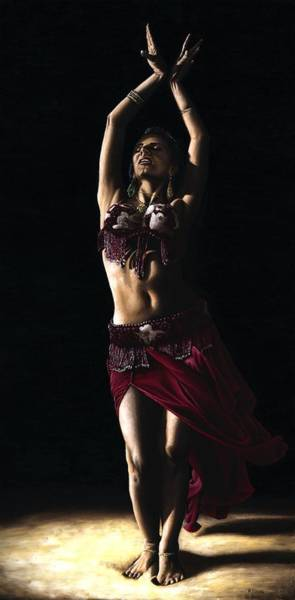 Belly Dancing Painting - Desert Dancer by Richard Young