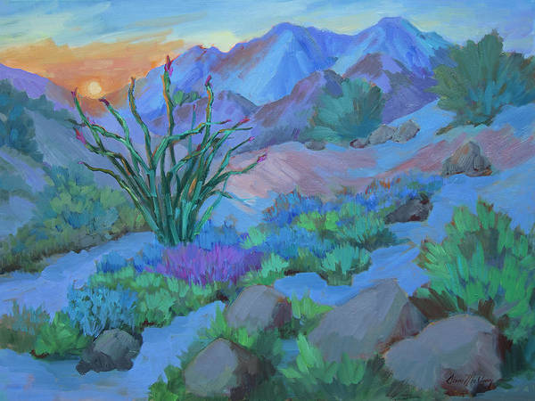 Wall Art - Painting - Desert Dawn by Diane McClary