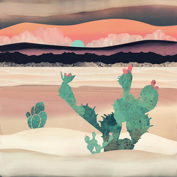 Wall Art - Digital Art - Desert Dawn by Spacefrog Designs