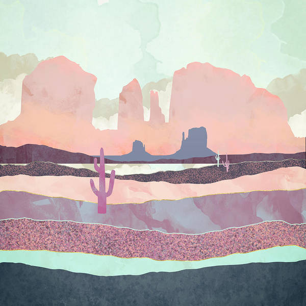 Wall Art - Digital Art - Desert Dusk Light by Spacefrog Designs