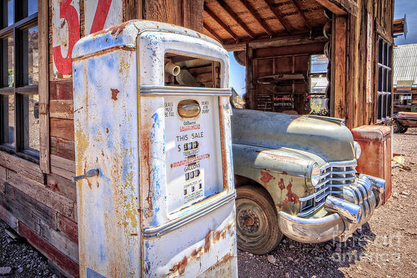 Ghost Town Photograph - Desert Gas Station by Edward Fielding