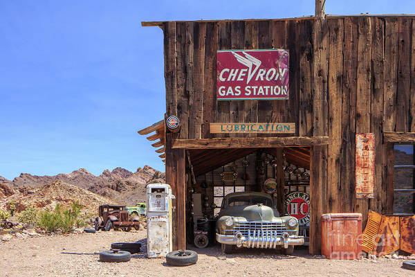Wall Art - Photograph - Desert Gas Station Eldorado Canyon by Edward Fielding