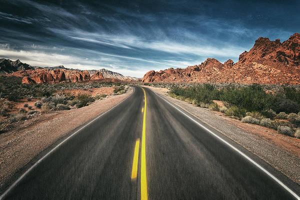 Valley Of Fire Wall Art - Photograph - Desert Highway by Robert Fawcett
