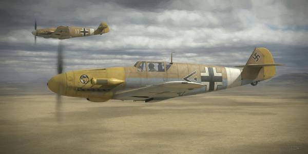 Wwii Wall Art - Digital Art - Desert Hunters - Painterly by Robert Perry