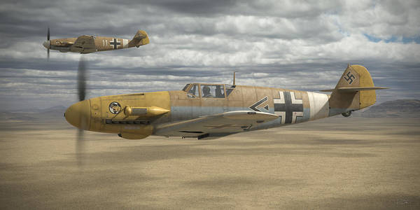 Wwii Wall Art - Digital Art - Desert Hunters by Robert Perry