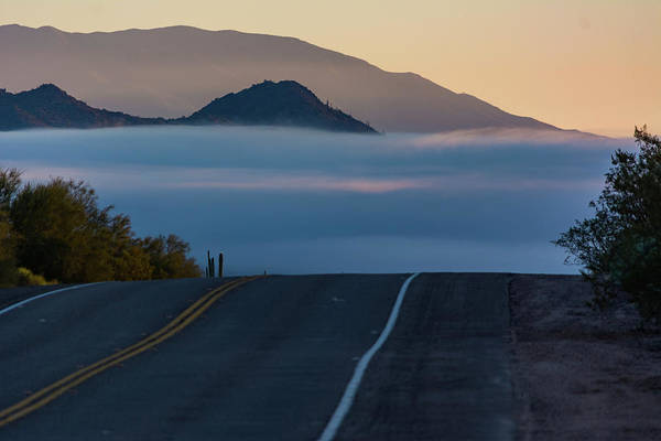 Desert Inversion Highway Art Print