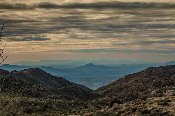 Photograph - Desert Landscape At Sunset by Teresa Wilson