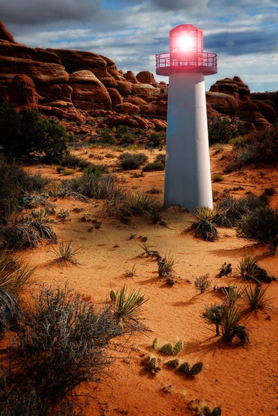 Photograph - Desert Lighthouse by Harry Spitz