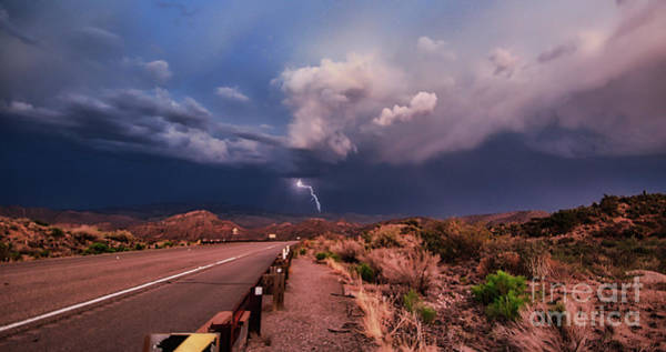 Photograph - Desert Lightning by Mark Jackson