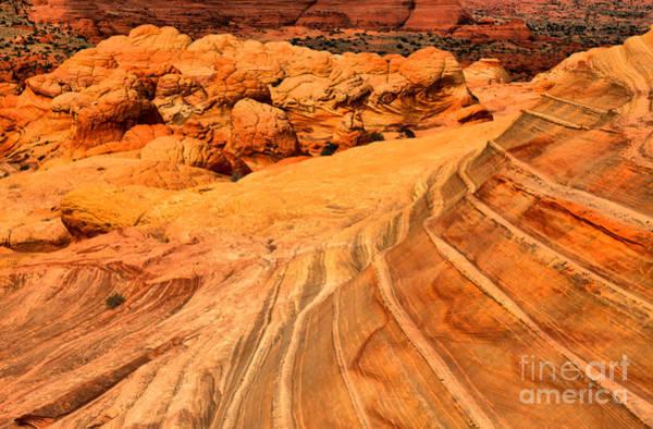 Photograph - Desert Lines And Brain Rocks by Adam Jewell