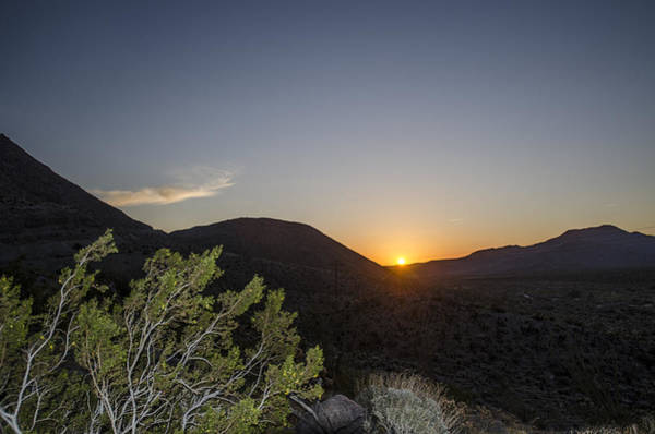 Photograph - Desert Mountain Sunrise by William Bitman