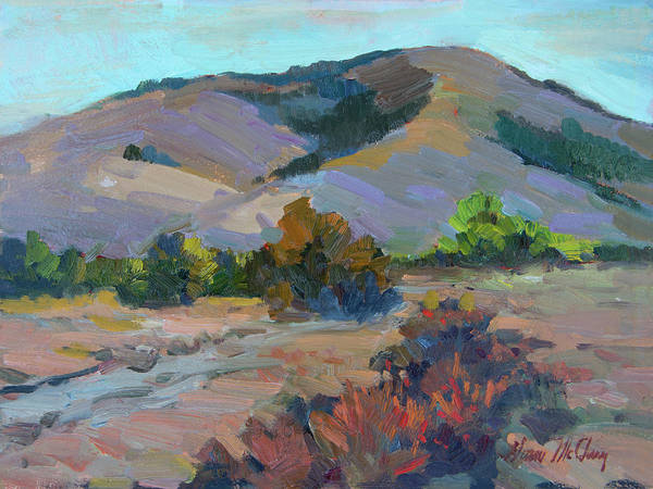 Wall Art - Painting - Desert Mountains by Diane McClary