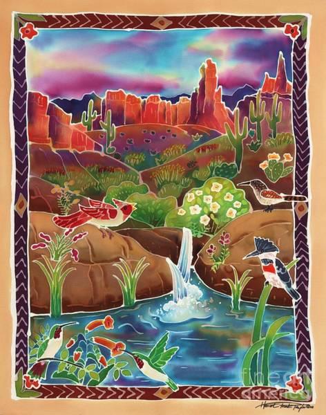 Wren Painting - Desert Oasis by Harriet Peck Taylor