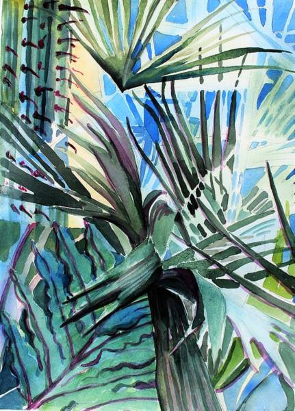 Wall Art - Painting - Desert Palms And Cactus by Mindy Newman