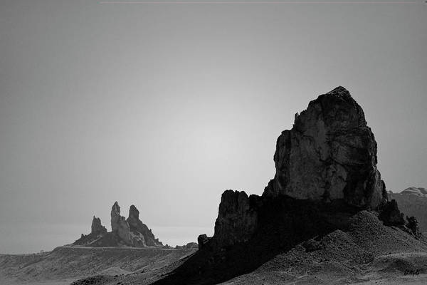 Photograph - Desert Pinnacles I Bw by David Gordon