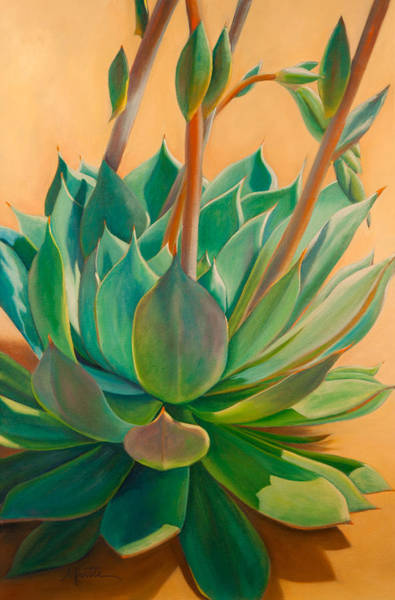 Succulent Wall Art - Painting - Desert Rainbow by Athena Mantle