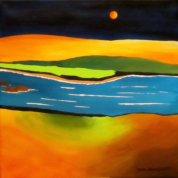 Wall Art - Painting - Desert River by Carol Sabo