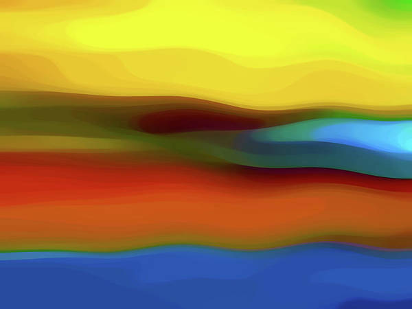 Southwest Digital Art - Desert River Landscape by Amy Vangsgard
