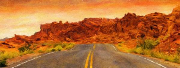 Wall Art - Painting - Desert Road - Id 16217-202744-5562 by S Lurk