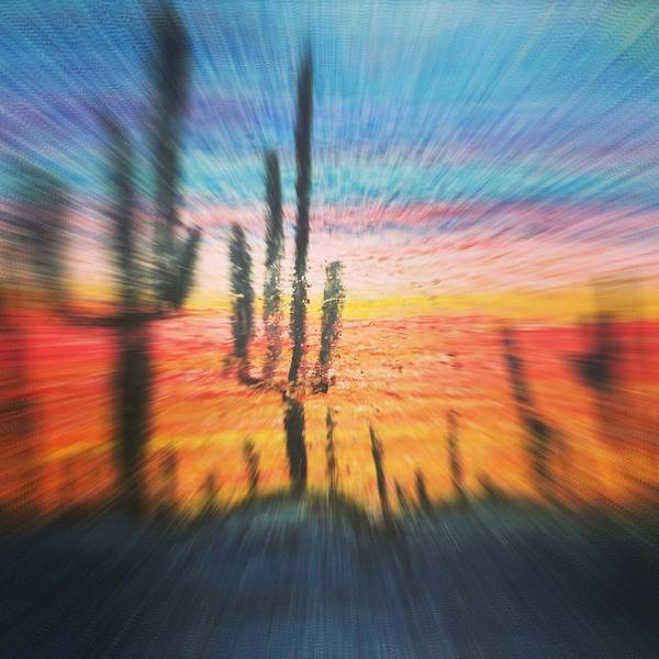 Wall Art - Painting - Desert Scape At Sunset  by Angelina Elliott