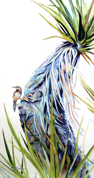 Painting - Desert Spirit - Cactus Wren by Marsha Karle