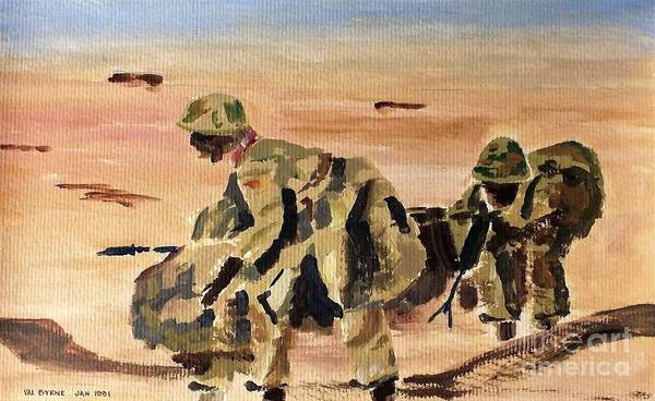 Painting - F 808  Desert Storm 1991 by Val Byrne