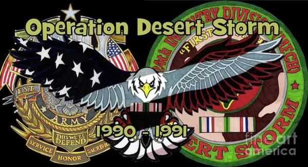 Drawing - Desert Storm by Bill Richards
