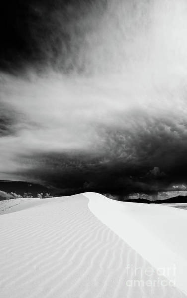White Sand Photograph - Desert Storm by DiFigiano Photography