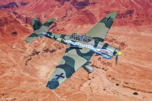 Junkers Digital Art - Desert Stuka In Oil by Tommy Anderson