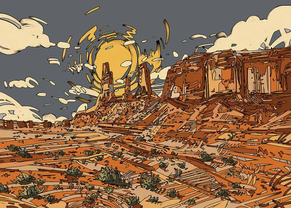 Wall Art - Digital Art - Desert Sun by Bekim M