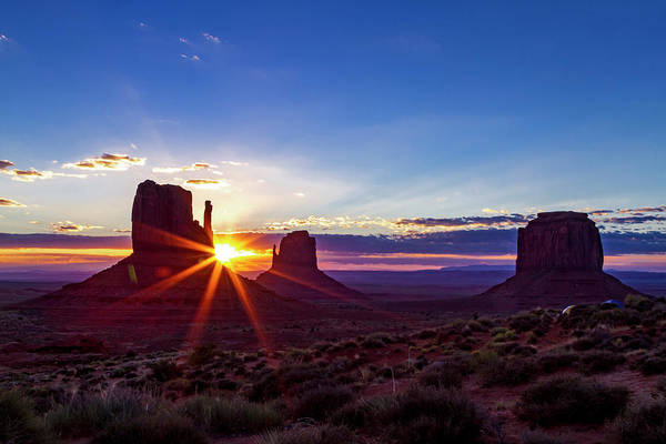 Photograph - Desert Sunrise In Monument Valley by Teri Virbickis