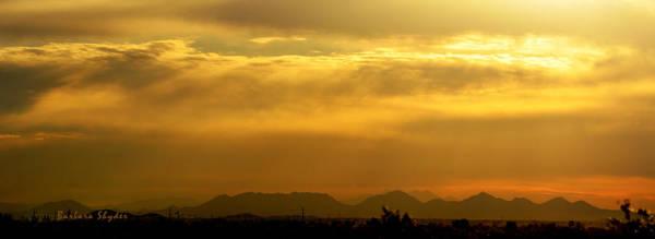 Wall Art - Painting - Desert Sunrise Surprise Arizona Photo by Barbara Snyder