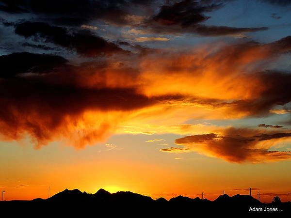 Adam Jones Wall Art - Photograph - Desert Sunset by Adam Jones