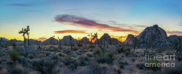 Desert Sunset Photograph - Desert Sunset Panorama by Michael Ver Sprill