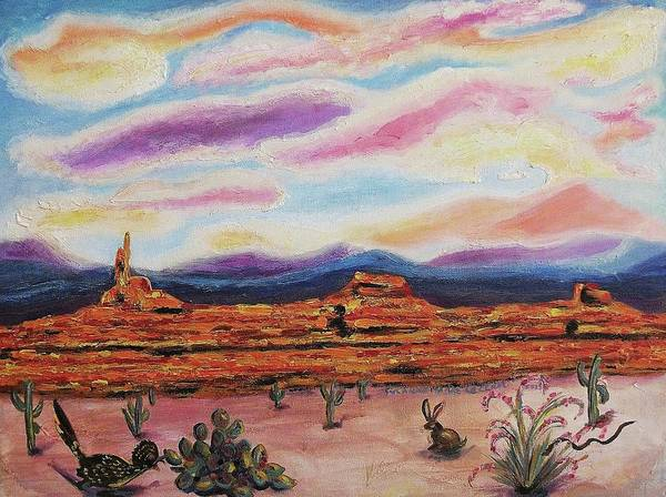 Leclair Painting - Desert by Suzanne  Marie Leclair