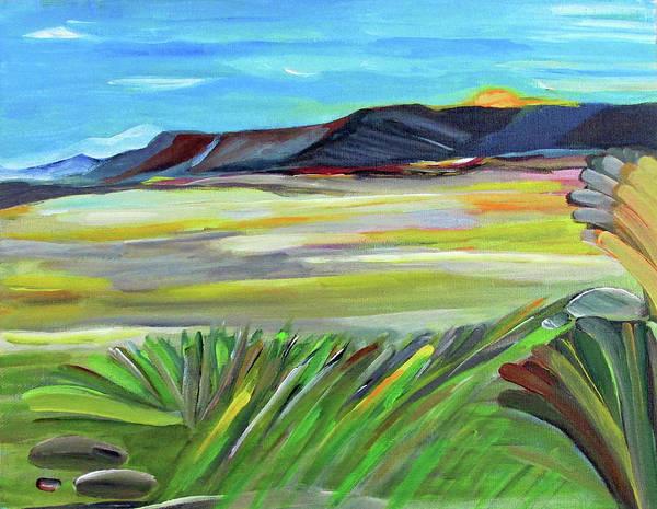 Wall Art - Painting - Desert View by Fatima Neumann