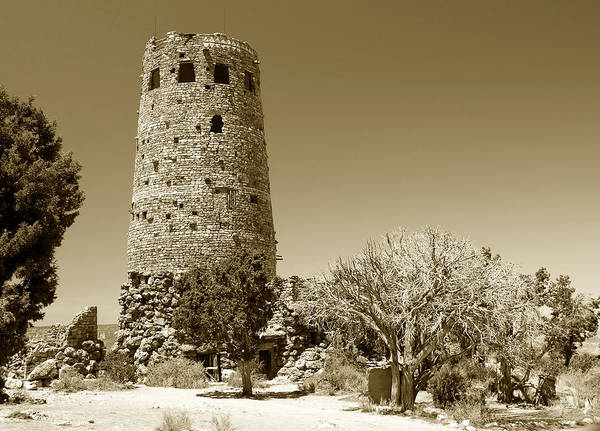Desert View Tower Photograph - Desert View Tower Work Number 1 by David Lee Thompson