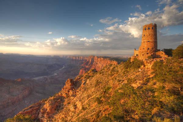 South Rim Photograph - Desert View Watchtower by Mike Buchheit