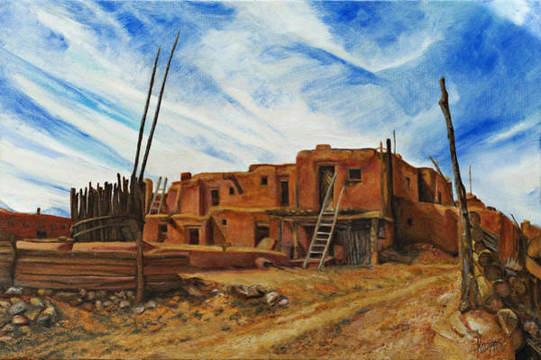Painting - Desert Village New Mexico by Kathy Knopp